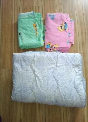 2 комплекта постелі і одіяло дитяче