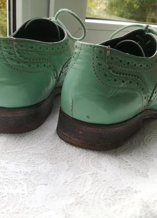 Оксфорды туфли с перфорацией