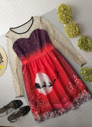 Платье миди новогоднее