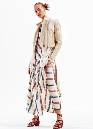Кожаная куртка из premium линейки h&m studio / 36  38 42