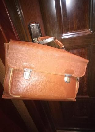 Винтаж кожаный портфель деловой кожа