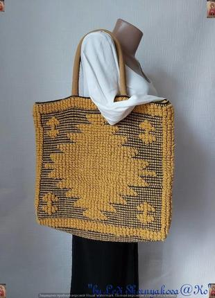 Новая мега вместительная сумка шоппер со 100 % хлопка в красивую вышивку