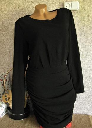 Черное платье с длинным рукавом vila eur 40