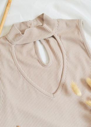 Бадлон топ гольф в рубчик майка блуза