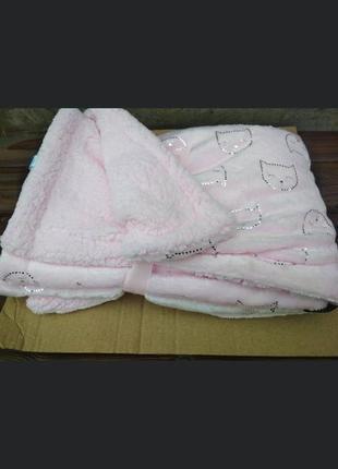 Детское одеяло-плед размер 100*75