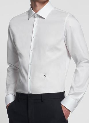 Рубашка белая классическая seidensticker германия