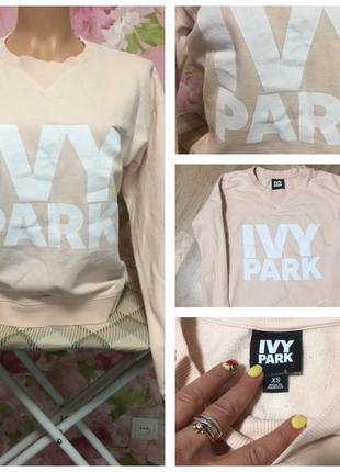 Ivy park/пудровый/свитшот/xs/s/topshop/надписи