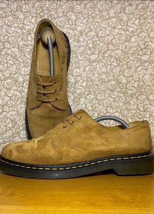 Мужские кожаные низкие ботинки dr.martens мартинсы туфли  aw501 gv06r оригинал размер 45