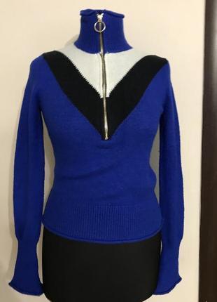 Стильная теплая кофта водолазка zara knit