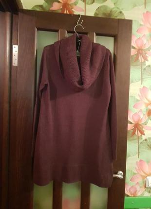 Платье короткое  свитер хомут