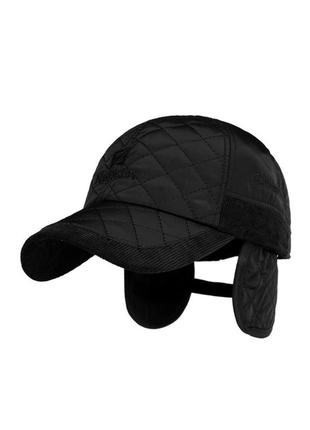 Бейсболка кепка с ушами на флисе