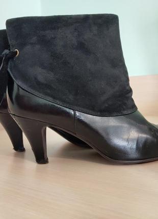 Демисезонные ботинки roberto venuti из лакированной кожи