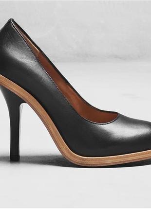 Срочно! 100% кожа классика элитные люкс туфли лодочки чёрные 35 36
