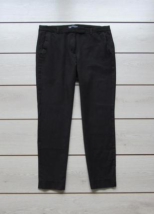 Зауженные черные брюки под джинс от marks & spencer