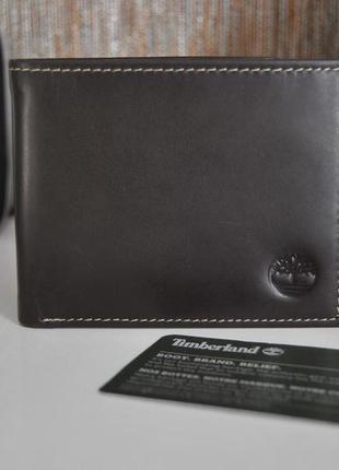 Кожаный кошелек timberland / шкіряний гаманець