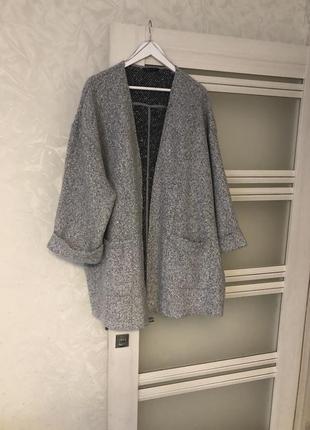 Стильное полу пальто большой размер