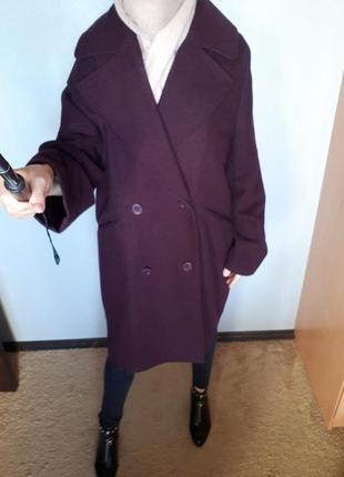 Супер крутое новое качественное пальто oversize с шерстью