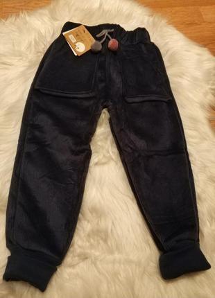 Вельветовые штаны на меху