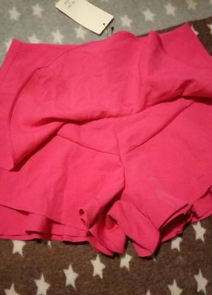Классные многослойные юбка шорты с рюшами