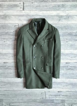 Итальянское двубортное пальто falko rosso