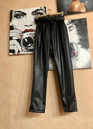Кожаные штаны брюки
