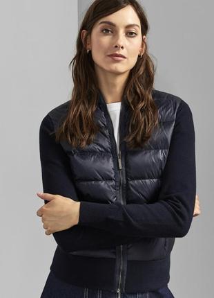 Шикарная темно-синяя пуховая куртка бомбер ted baker