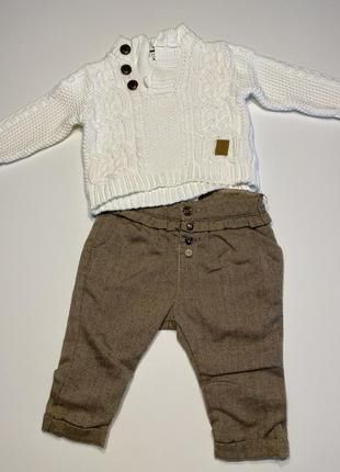 Штанишки, наборчик, штаны, свитер, zara, 6-9