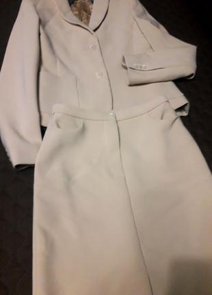 Нарядный костюм с миди- юбкой
