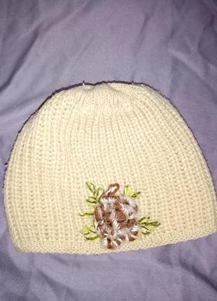 Теплая шапка, двойная