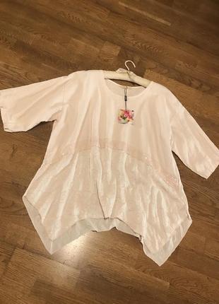 Италия! шикарная блуза свободного кроя р.20-22