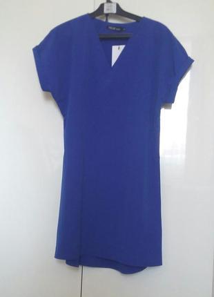 Платье футболка электрик
