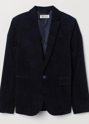 Пиджак h&m 0630556002 170 см  синий 61874