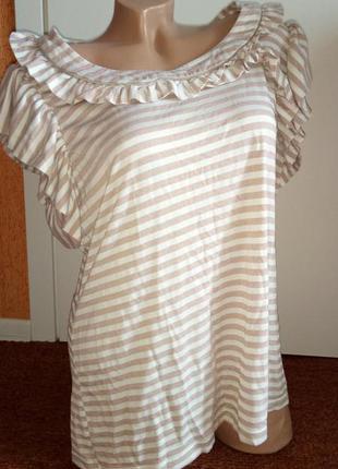 Летняя распродажа полосатая футболка с коротким рукавом, майка/туника
