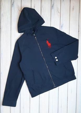 💥1+1=3 брендовая женская синяя куртка ветровка ralph lauren оригинал, размер 46 - 48