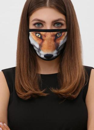 Разные принты женская мужская защитная маска многоразовая лев обезьяна лиса орел собака