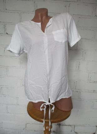 Футболка/рубашка белая вискозная/вискоза/s-m