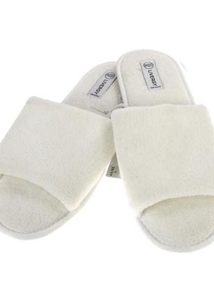 Тапочки с открытым носком livergy мужские тапочки тапки домашние