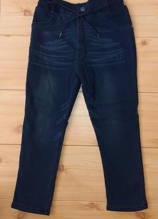 Зимние джинсы на махре для мальчика рр.122-146 beebaby (бибеби)