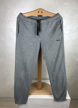 Серые хлопковые спортивные штаны puma оригинал треники спортивки мужские купить украина