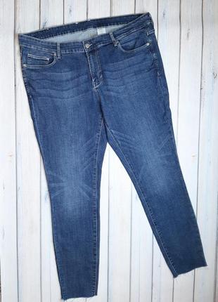 💥1+1=3 базовые синие зауженные узкие джинсы скинни h&m, размер 58 - 60