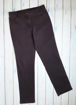 💥1+1=3 винные прямые женские джинсы стрейч brax, размер 48 - 50