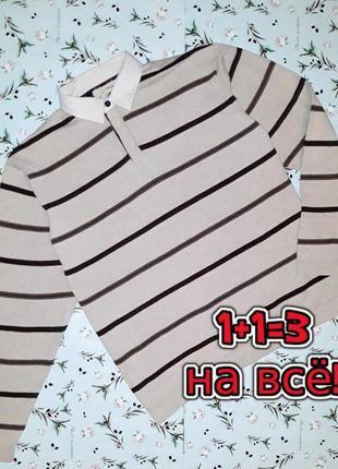 🌿1+1=3 стильный свитер поло с имитацией рубашки marks&spencer, размер 50 - 52