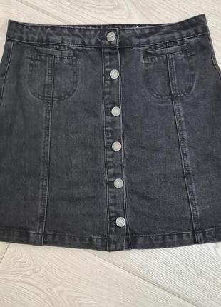 Джинсовая юбка трапеция л размер