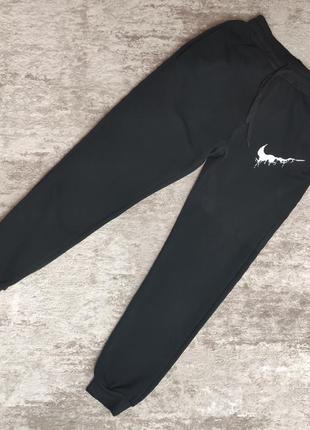 Оригинальные теплые спортивные штаны