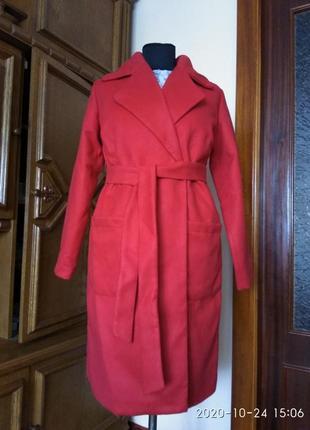 Новое классное кашемировое пальто, р. 50-52