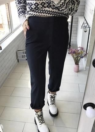 Брюки штаны на высокой посадке на с-м