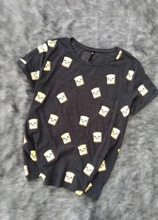 Блуза топ кофточка с мультяшным принтом sinsay
