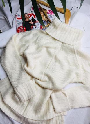 Зимний свитер тёплый свитер вязаный свитер