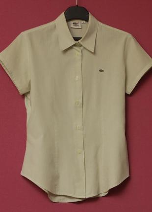 Lacoste рр 38 m рубашка из тончайшего хлопка полностью новая