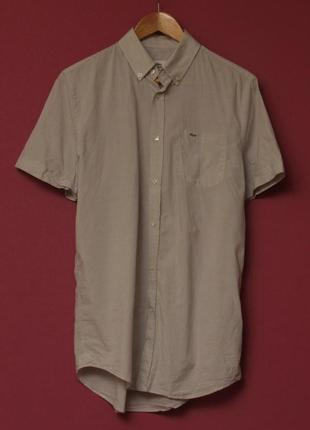 Lacoste 39 l рубашка из легчайшего хлопка короткий рукав свежие коллекции
